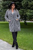 Пальто батал пальтовая ёлочка  Мод 320 (AMBR)