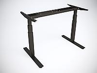 Рама стола Ultra регулируемая по высоте для работы сидя-стоя с двумя моторами, 2 года (Standart), Вверх/вниз + память на 4 позиции, Чёрный