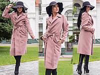 Пальто норма кашемир с поясом Мод 318 (AMBR)