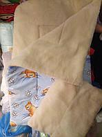 Одеяло и подушка детское на меху в детскую кроватку для новорожденных Мишки разные цвета