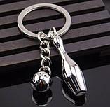 Брелок у вигляді кеглі і кулі для боулінгу метал SKU0000818, фото 8