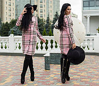 Пальто норма клетка кашемир Мод 255 (AMBR)