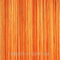 Шторы Нити, кисея, ЛЮКС оранжевые №3