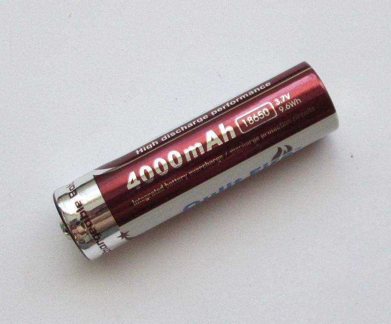 Аккумулятор Qulit Fire 18650 Li-ion 4000 mA 3.7V