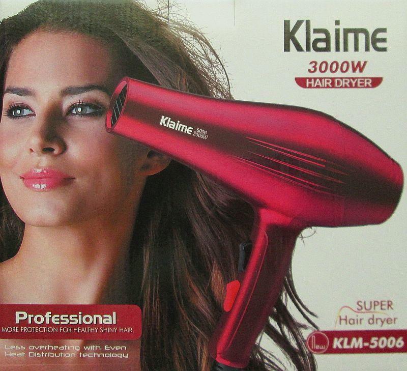 Профессиональный фен для волос Klaime Klm-5006 , 3000W