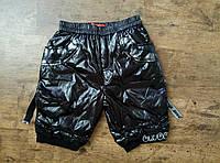 Ультрамодные шорты для девочки из плащевки на ситепоне