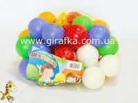 Шарики для палатки или бассейна цветные твердые, диаметр 8 см
