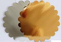 Подложки круглые золото/серебро Ромашка 5 шт