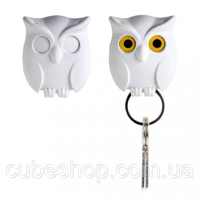 Ключница настенная Night Owl Qualy (белая)