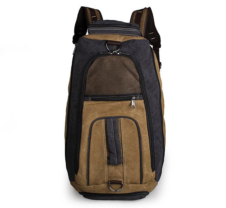 Дорожный рюкзак John McDee 9025C серо-коричневый
