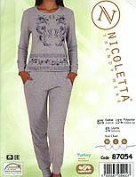 Женская велюровая пижама  с брюками    Nicoletta