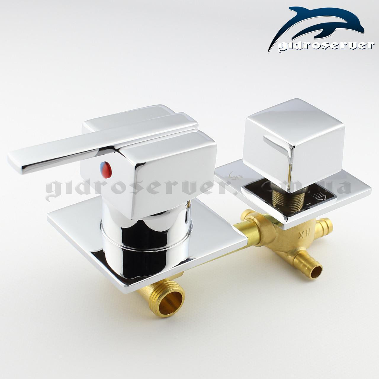 Смеситель для душевой кабины, гидромассажного бокса SK 3 - 100 мм.