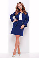 Деловой юбочный костюм с 42 по 50 размер 5 цветов