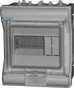 Щит распределительный на 6 модулей, накладной с прозрачными дверями, IP65, VECTOR VE106D