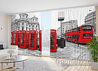 """Фото Шторы в зал """"Лондонский автобус"""""""