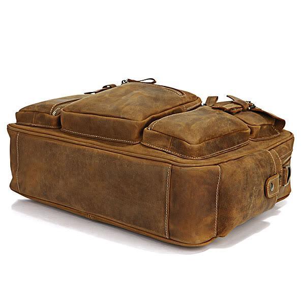 5fafe833d1e9 Мужская кожаная сумка John McDee 7028B коричневая – купить в ...
