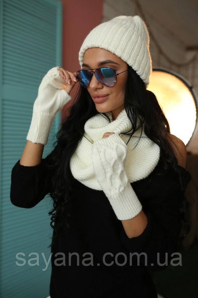 классные шапка с шарфом