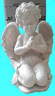 Скульптура мраморная Ангел молится №11 (белый) 29см.