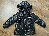 Стильная черная демисезонная куртка для девочки