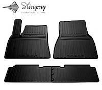 Резиновые коврики Stingray Стингрей Тесла Модель С 2012- Комплект из 4-х ковриков Черный в салон
