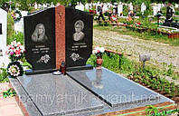Гранітний пам'ятник  дві могили