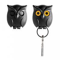 Ключница настенная Night Owl Qualy (черная)