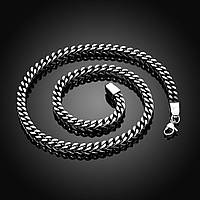 Цепь мужская колос с квадратным плетением, сталь 316L
