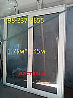 Окно металлопластиковые бу, 1.7м*1.4м!