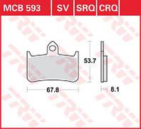 LUCAS MCB593SV - Тормозные колодки