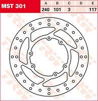 LUCAS MST301 - Тормозной диск