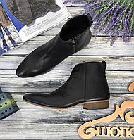 Короткие ботинки из гладкой кожи  SH3997