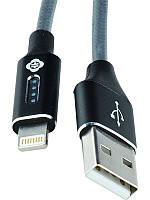Кабель для iPhone 5/6/7 (8 pin) Totu Bling Series LED Candy USB Cable  lightning 1.2 m Black