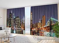 "Фото Шторы в зал ""Манхэттен"" 2,7м*3,5м (2 половинки по 1,75м), тесьма"