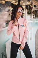 Женская куртка с пришивной лейбой из итальянской экокожи