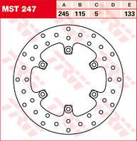 LUCAS MST247 - Тормозной диск