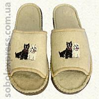 Тапочки войлочные с вышивкой (40-42)