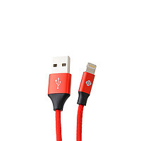 Кабель для iPhone 5/6/7 (8 pin) Totu Woven Series cable Lightning (0.3m) (red)