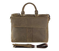 Мужская кожаная сумка John McDee 7113R зеленая