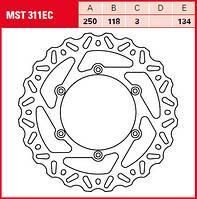 LUCAS MST311EC - Тормозной диск