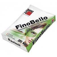 Шпаклевка сухая гипсовая финишная белая Baumit FinoBello для внутренних работ