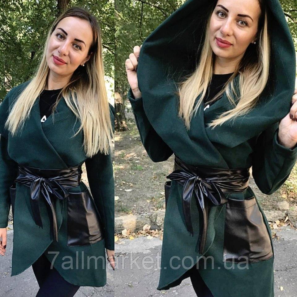 """Пальто женское кашемировое с пояском (5 цветов) размеры 42-48 """"GABRIELA"""" купить оптом в Одессе на 7км, фото 1"""