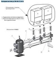 Каскадное подключение котлов до 280 кВт (12 м3/ч)