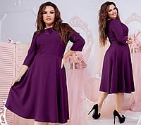 Платье (46-48.50-52,54-56,58-60,62-64) — костюмка от компании Discounter.top