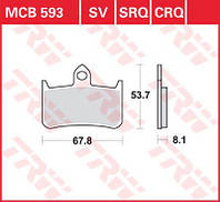 LUCAS MCB593 - Тормозные колодки