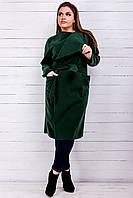 Женское пальто (46-48,50-52,54-56,58-60) — кашемир от компании Discounter.top