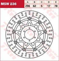 LUCAS MSW236 - Тормозной диск