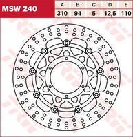 LUCAS MSW240 - Тормозной диск