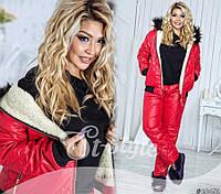 Женский лыжный костюм (42,44,46,48,50,52) — плащовка синтепон 200 от компании Discounter.top