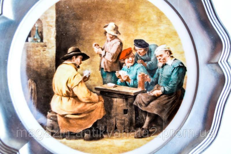 Шикарное коллекционное тарелка! Настенная! Олово! BAVARIA (GERMANY)