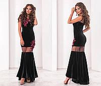 Платье (42,44,46) — бархат, сетка купить оптом и в розницу в одессе  7км